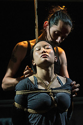 Anatomy is a regular theatre event in Edinburgh encouraging brave new performance running quarterly at Summerhall. The Visions of Life in the Infinite Maze includes a provocative burlesque performance challenging immigration in a post-Brexit UK.<br /> <br /> Pictured: Ro-nin &amp; Xian