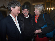 COUNT ADAM ZAMOYSKI; NICKY HASLAM; ANNE SOMERSET, Literary Review Christmas drinks and  Bad Sex in fiction Awards, In and Out club. St. James's Sq. London. 30 November 2017
