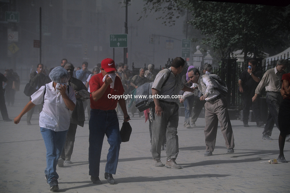 New York. attack terorist on world trade center towers in Manhattan  New york  Usa  attaque terroriste sur les tours du world trade center a Manhattan  New york  USa