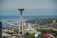 2018 JUNE 19 - Space Needle and Seattle Center, South Lake Union, Seattle, WA, USA. By Richard Walker