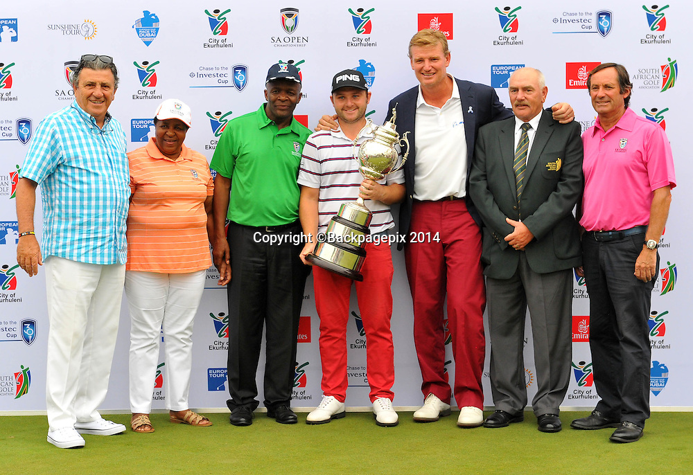 Andy Sullivan winner of the 2015 South Africa Golf Open Championship at the Glendower Golf Course in Johannesburg, South Africa on January 11, 2014 ©Samuel Shivambu/BackpagePix