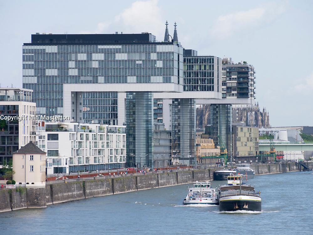 Modern commercial and residential upmarket property development in Rheinauhafen  Cologne Germany