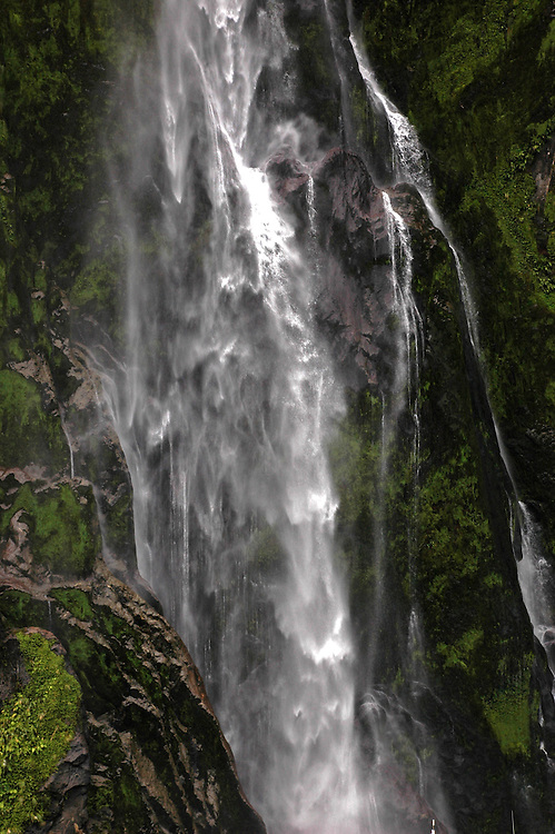 Bowen Falls at Milford Sound, Fjordland National Park, New Zealand