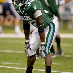 Sep 12, 2009; New Orleans, LA, USA; Tulane Green Wave running back Andre Anderson (32) before a game against the BYU Cougars at the Louisiana Superdome.  BYU defeated Tulane 54-3. Mandatory Credit: Derick E. Hingle-US PRESSWIRE