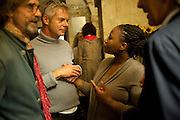 Jeremy Irons; Stephen Daldry;  Pauline Malefane;Eric Abraham; , The opening night of The Mysteries Ð Yiimimangaliso at the Garrick Theatre. Aftershow party in The Crypt, St Martin-in-the-Fields, Trafalgar Square, London. 15 September 2009.<br /> Jeremy Irons; Stephen Daldry;  Pauline Malefane;Eric Abraham; , The opening night of The Mysteries ? Yiimimangaliso at the Garrick Theatre. Aftershow party in The Crypt, St Martin-in-the-Fields, Trafalgar Square, London. 15 September 2009.