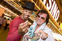 Portrait of man and Elvis impersonator