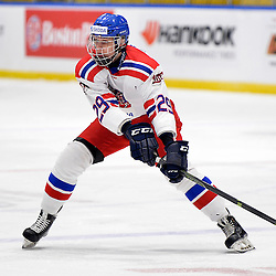 WHITBY, - Dec 16, 2015 -  Game #8 - Czech Republic vs. Canada East at the 2015 World Junior A Challenge at the Iroquois Park Recreation Complex, ON. Matyas Kantner #29 of Team Czech Republic during the first period. <br /> (Photo: Shawn Muir / OJHL Images)