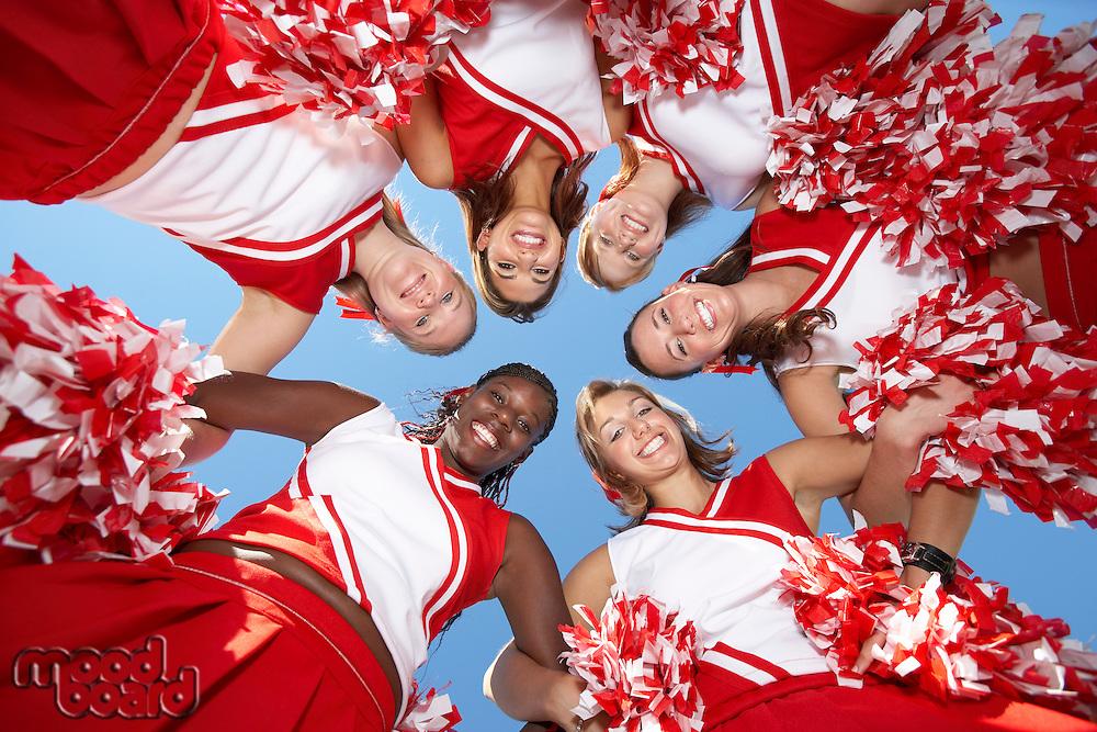Cheerleaders in Huddle