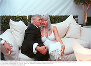 Tony Curtis & Jill Vanden Berg.  Vanity Fair Oscar night party. Mortons. Los Angeles. 28 March 1999. Film 99182f25a<br />