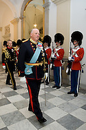 15.04.2015. Copenhagen, Denmark.King Harald of Norway attended a Gala Dinner at Christiansborg Palace on the eve of The 75th Birthday of Queen Margrethe of Denmark.Photo:© Ricardo Ramirez