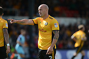 Newport County defender David Pipe (2) 0-0 during the EFL Sky Bet League 2 match between Newport County and Wycombe Wanderers at Rodney Parade, Newport, Wales on 9 September 2017. Photo by Alan Franklin.