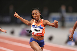 February 7, 2018 - Paris, Ile-de-France, France - Marie-Josee Ta Lou of Ivory Coast competes in 60m during the Athletics Indoor Meeting of Paris 2018, at AccorHotels Arena (Bercy) in Paris, France on February 7, 2018. (Credit Image: © Michel Stoupak/NurPhoto via ZUMA Press)