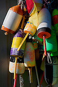 Image of buoys in Bar Harbor on Mount Desert Island in Maine, American Northeast