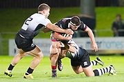 Edinburgh are being overpowered in the first half of the Guinness Pro 14 2017_18 match between Edinburgh Rugby and Zebre at Myreside Stadium, Edinburgh, Scotland on 6 October 2017. Photo by Kevin Murray.