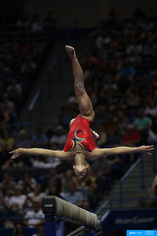 Kyla Ross, Aliso Viejo, California, winning the Balance Beam competition during the Senior Women Competition at The 2013 P&G Gymnastics Championships, USA Gymnastics' National Championships at the XL, Centre, Hartford, Connecticut, USA. 17th August 2013. Photo Tim Clayton