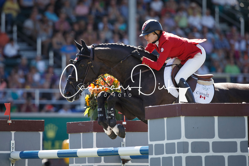 Foster Tiffany, (CAN), Tripple X III<br /> BMO Nations Cup<br /> Spruce Meadows Masters - Calgary 2015<br /> © Hippo Foto - Dirk Caremans<br /> 12/09/15