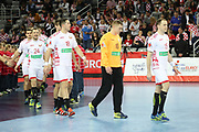Team of Belarus during the EHF 2018 Men's European Championship, 2nd Round, Handball match between Croatia and Belarus on January 18, 2018 at the Arena in Zagreb, Croatia - Photo Laurent Lairys / ProSportsImages / DPPI