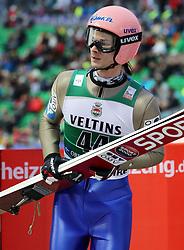 03.02.2017, Heini Klopfer Skiflugschanze, Oberstdorf, GER, FIS Weltcup Ski Sprung, Oberstdorf, Skifliegen, im Bild Manuel Fettner (AUT) // Manuel Fettner (AUT) during mens FIS Ski Flying World Cup at the Heini Klopfer Skiflugschanze in Oberstdorf, Germany on 2017/02/03. EXPA Pictures © 2017, PhotoCredit: EXPA/ Sammy Minkoff<br /> <br /> *****ATTENTION - OUT of GER*****