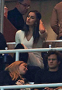 06.JANUARY.2013. MADRID<br /> <br /> IRINA SHAYK ATTENDS THE REAL MADRID VS REAL SOCIEDAD AT THE ESTADIO SANTIAGO BERNABEU IN MADRID. REAL MADRID BEAT REAL SOCIEDAD 4-3 IN THE LA LIGA GAME.<br /> <br /> BYLINE: EDBIMAGEARCHIVE.CO.UK<br /> <br /> *THIS IMAGE IS STRICTLY FOR UK NEWSPAPERS AND MAGAZINES ONLY*<br /> *FOR WORLD WIDE SALES AND WEB USE PLEASE CONTACT EDBIMAGEARCHIVE - 0208 954 5968*