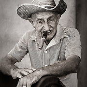 A portrait of a local Cuban rancher in Trinidad, Cuba.