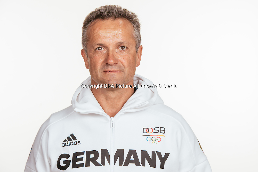 Udo Knepper poses at a photocall during the preparations for the Olympic Games in Rio at the Emmich Cambrai Barracks in Hanover, Germany, taken on 12/07/16 | usage worldwide