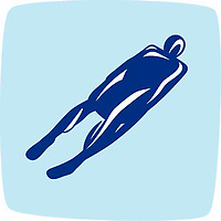 OLYMPIC GAMES VANCOUVER 2010 - VANCOUVER (CAN) - PHOTO : VANOC/COVAN / DPPI<br /> PICTOGRAMS - LUGE