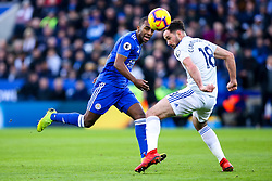 Ricardo Pereira of Leicester City takes on Greg Cunningham of Cardiff City - Mandatory by-line: Robbie Stephenson/JMP - 29/12/2018 - FOOTBALL - King Power Stadium - Leicester, England - Leicester City v Cardiff City - Premier League