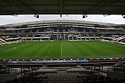 Hull City's KC Stadium before the Sky Bet Championship match between Hull City and Birmingham City at the KC Stadium, Kingston upon Hull, England on 24 October 2015. Photo by Ian Lyall.