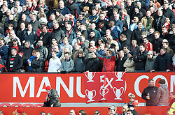 MANCHESTER, ENGLAND - Sunday, March 23, 2008: Liverpool supporters during the Premiership match at Old Trafford. (Photo by David Rawcliffe/Propaganda)