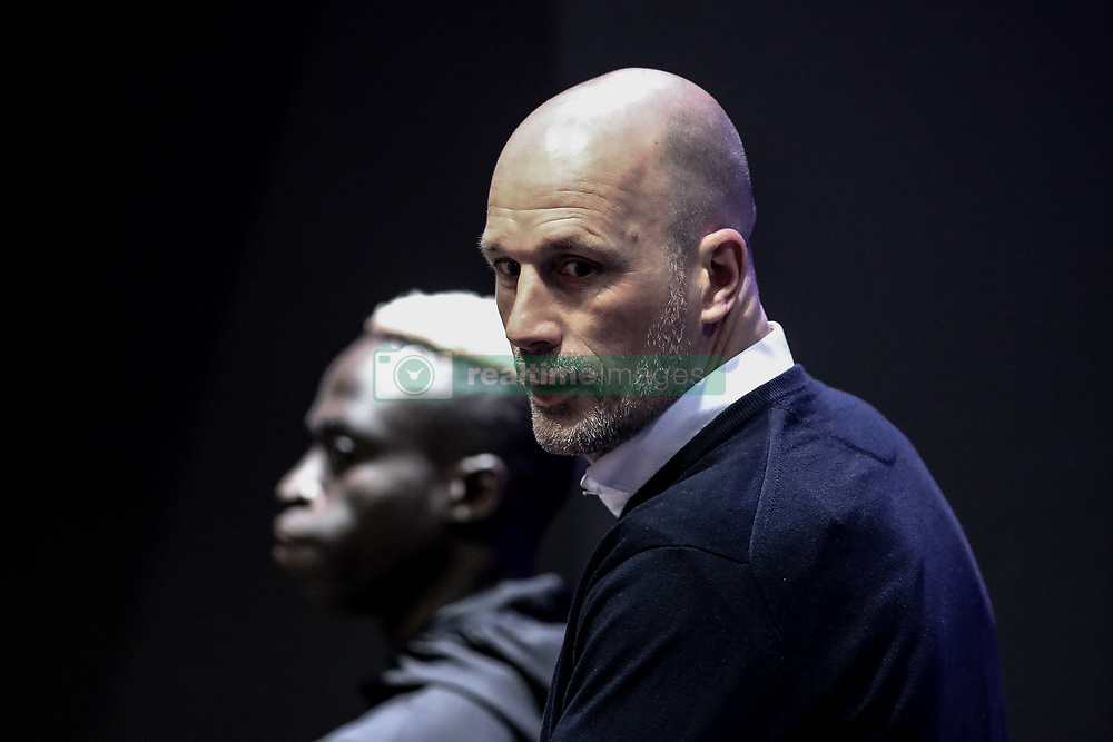 November 5, 2019, Paris, France: Club's Krepin Diatta and Club Brugge's head coach Philippe Clement arrive for a press conference of Belgian soccer team Club Brugge KV, Tuesday 05 November 2019 in Paris, France, in preparation of tomorrow's match against French club Paris Saint-Germain Football Club in the first round of the UEFA Champions League. (Credit Image: © Bruno Fahy/Belga via ZUMA Press)
