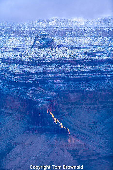 Grand Canyon on a winter's morning.