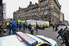 Climate protesters block City Centre, Edinburgh, 16 April 2019