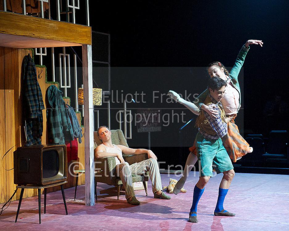 Hansel and Gretel<br /> The Royal Ballet at The Royal Opera House, Covent Gafden, London, Great Britain <br /> rehearsal <br /> 7th May 2013 <br /> <br /> Choreography by <br /> Liam Scarlett <br /> <br /> MusicDan Jones<br /> <br /> DesignsJon Bausor<br /> <br /> Lighting designPaul Keogan<br /> <br /> HanselJames Hay<br /> <br /> GretelLeanne Cope<br /> <br /> The FatherBennet Gartside<br /> <br /> The StepmotherLaura Morera<br /> <br /> The SandmanSteven McRae<br /> <br /> The WitchBrian Maloney<br /> <br /> <br /> Photograph by Elliott Franks