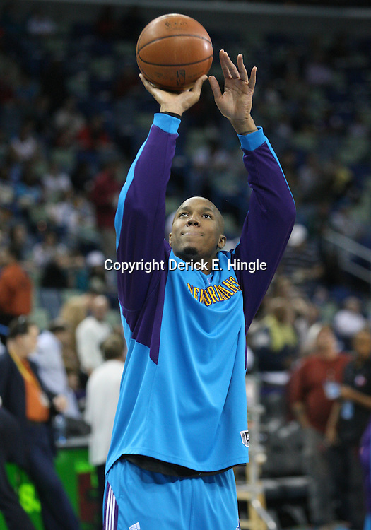 18 February 2009: New Orleans Hornets forward David West (30) during the shoot around prior to tip off of a NBA basketball game between the Orlando Magic and the New Orleans Hornets at the New Orleans Arena in New Orleans, Louisiana.