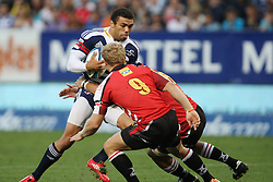 Bryan Habana during the Super Rugby (Super 15) fixture between the DHL Stormers and the Lions held at DHL Newlands Stadium in Cape Town, South Africa on 26 February 2011. Photo by Jacques Rossouw/SPORTZPICS
