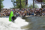 The crowd gathered to watch Stephen Wright during the finals of the reno riverfest