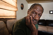 FLINT, MICHIGAN, USA - JANUARY 22: Flint, Michigan resident Jeffery Morre, 58, poses for a photo Friday, January 22, 2016 at his home in Flint, Michigan.  (Photo by Bryan Mitchell)