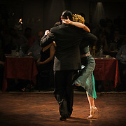 Luis Ramirez and Analia Carreno at Parakultural, Buenos Aires in Tango embrace (performance)