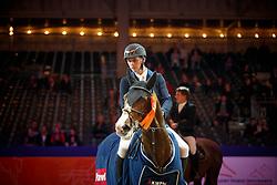 Hendrix Michel, NED, Don Diablo HX<br /> KWPN Stallionshow - 's Hertogenbosch 2018<br /> © Hippo Foto - Dirk Caremans<br /> 02/02/2018