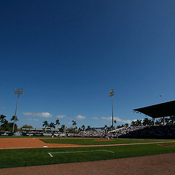 February 28, 2011; Fort Myers, FL, USA; A general view during a spring training exhibition game between the Minnesota Twins and the Boston Red Sox at City of Palms Park.  Mandatory Credit: Derick E. Hingle-US PRESSWIRE