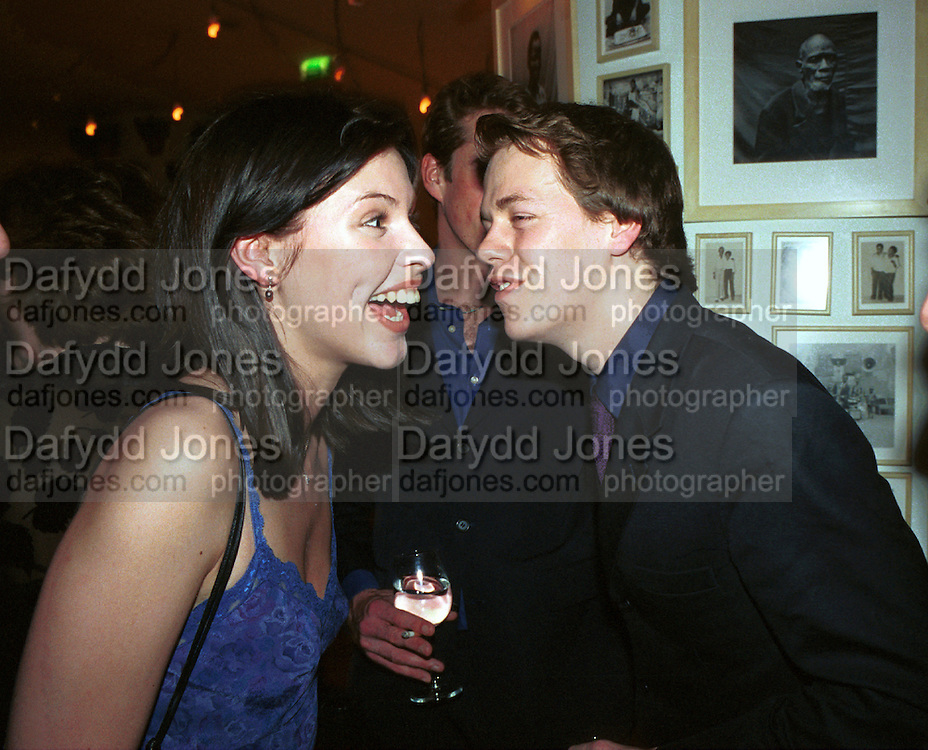 Pre Bafta party jointly hosted by Tina Brown and Elizabeth Murdoch. St. Martin's Lane Hotel. 8 April 2000<br />© Copyright Photograph by Dafydd Jones 66 Stockwell Park Rd. London SW9 0DA Tel 010 7733 0108 www.dafjones.com