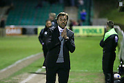 Ebbsfleet Manager Daryl McMahon during the National League South Play Off 1st Leg match between Whitehawk FC and Ebbsfleet United at the Enclosed Ground, Whitehawk, United Kingdom on 4 May 2016. Photo by Phil Duncan.