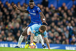 December 8, 2018 - London, Greater London, England - Antonio Rüdiger of Chelsea and Kyle Walker of Manchester City during the Premier League match between Chelsea and Manchester City at Stamford Bridge, London, England on 8 December 2018. (Credit Image: © AFP7 via ZUMA Wire)