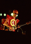 Bob Mothersbaugh of DEVO plays guitar