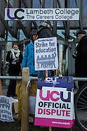 19 Jan. 2015 - Lambeth College UCU staff strike