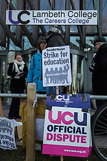 19 Jan. 2015 - Lambeth College UCU staff strike