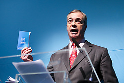 © Licensed to London News Pictures. 22/11/2019. London, UK. Brexit Party leader NIGEL FARAGE speaks to party members, parliamentary candidates and supporters as the Brexit Party launch their 'Contract With The People' in Westminster. Photo credit: Dinendra Haria/LNP