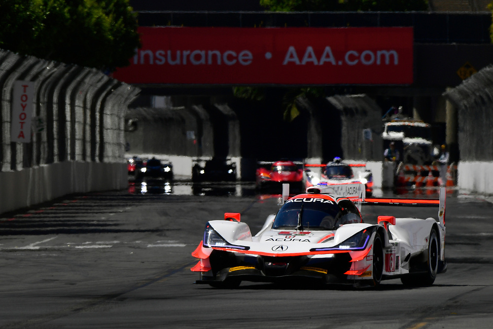 #6 Acura Team Penske Acura DPi, P: Dane Cameron, Juan Pablo Montoya<br /> Saturday 14 April 2018<br /> BUBBA burger Sports Car Grand Prix at Long Beach<br /> Verizon IndyCar Series<br /> Streets of Long Beach CA USA<br /> World Copyright: Scott R LePage<br /> LAT Images