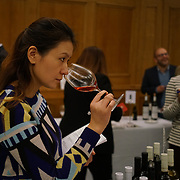 London, UK. 31st October 2017. Wine lovers and buyer testing Real Italian Wine & Food exhibition at Church House.