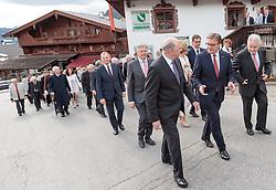 11.05.2017, Congress Centrum, Alpbach, AUT, Landeshauptleutekonferenz, Empfang, im Bild v.l. LH Thomas Stelzer (OÖ), LH Peter Kaiser (KT), LH Erwin Pröll (NÖ), LH Günther Platter (TI), LH Josef Pühringer (OÖ), // v.l. LH Thomas Stelzer (OÖ), LH Peter Kaiser (KT), LH Erwin Pröll (NÖ), LH Günther Platter (TI), LH Josef Pühringer (OÖ) during the Governors conference of the Austrian Provinces at Congress Centrum in Alpbach, Austria on 2017/05/11. EXPA Pictures © 2017, PhotoCredit: EXPA/ Johann Groder